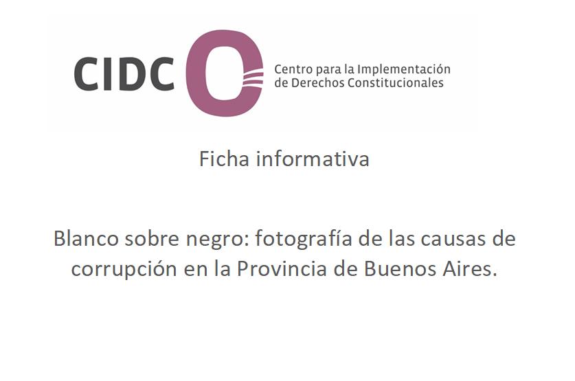 Ficha informativa: causas de corrupción en la Provincia de Buenos Aires
