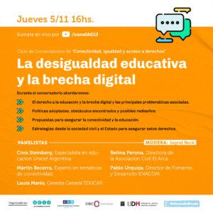 Ciclo de Conversatorios de «Conectividad, igualdad y acceso a derechos»