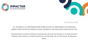El Acceso a la Información Pública en la Provincia de Buenos Aires: Una política pública que amerita un proceso participativo
