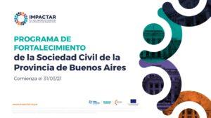 Comenzaron las inscripciones al Programa de Capacitaciones para el Fortalecimiento de la Sociedad Civil de IMPACTAR
